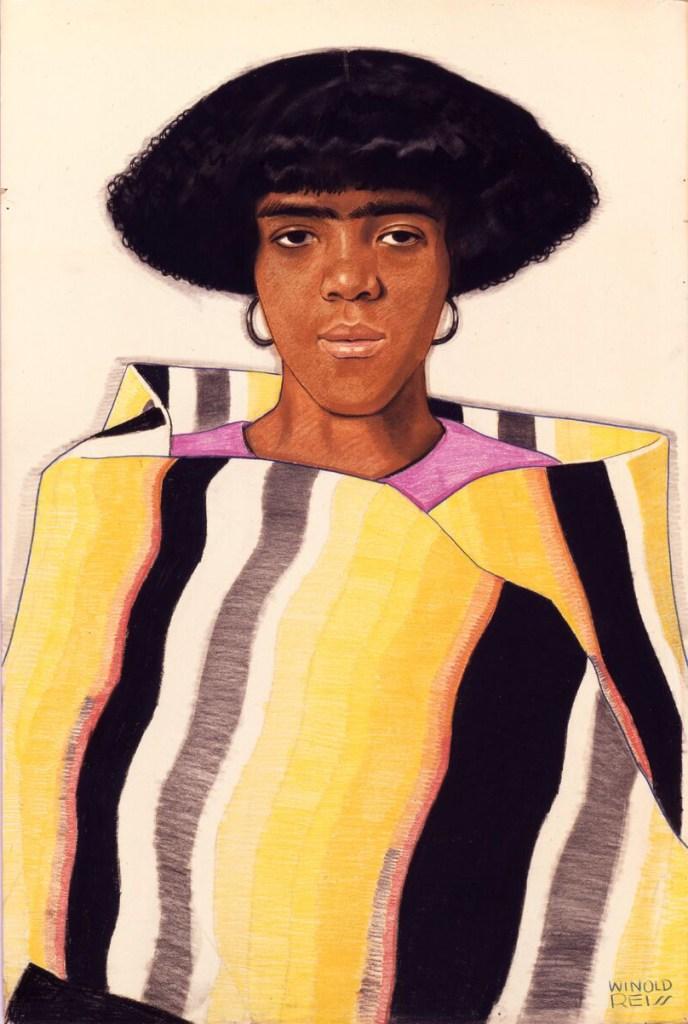 "WINOLD REISS, ""Harlem Girl with Blanket,"" circa 1925"