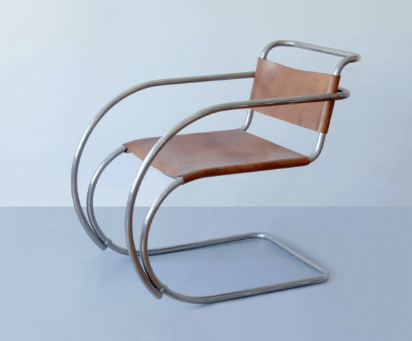 Tubular Steel Cantilever Chair MR 20 by Ludwig Mies van der Rohe, 1927