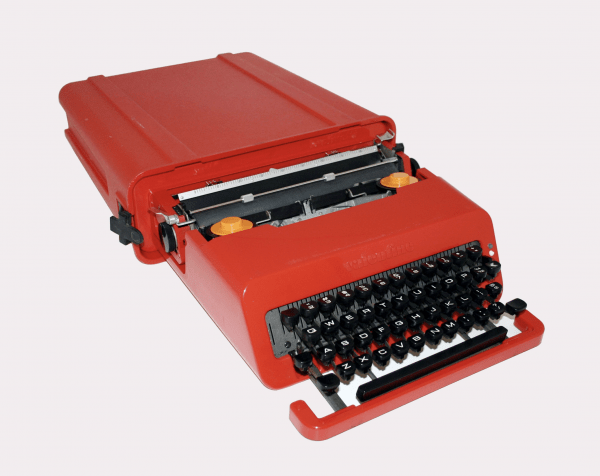 Valentine Portable Typewriter, 1969 Ettore Sottsass Jr., Designer Perry King, Collaborator