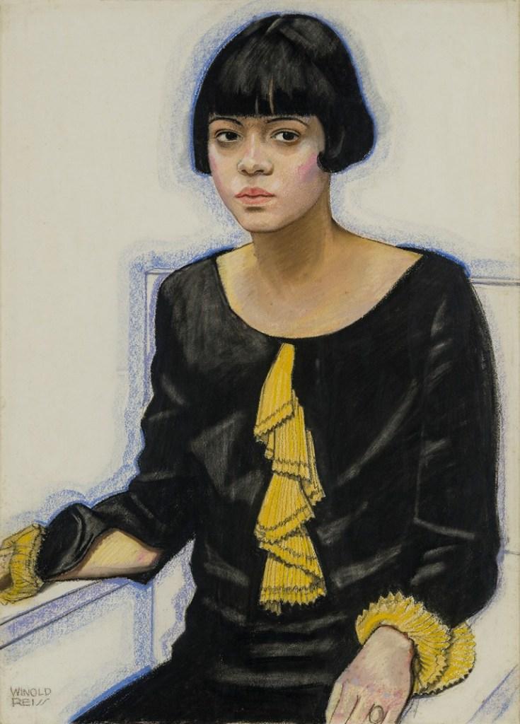 "WINOLD REISS (1886-1953), ""Portrait of Sari Patton,"" 1925"