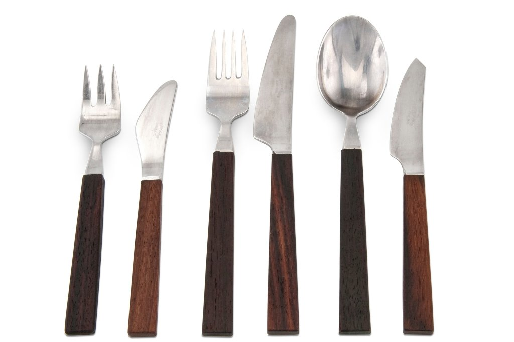 Cultery with wooden handles by Bertel Gardberg