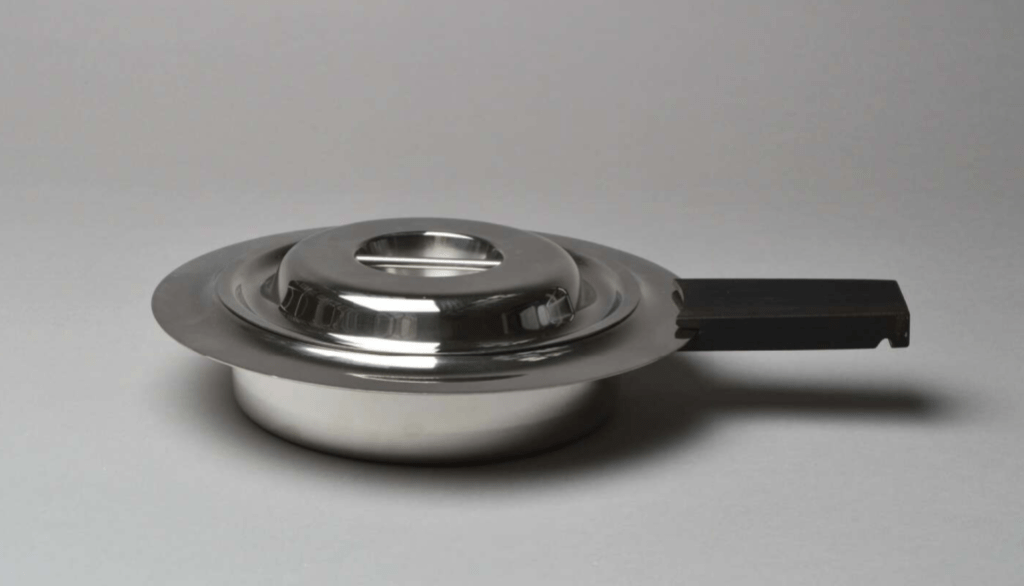 'Canton' casserole dish with lid, stainless steel designed by Bertel Gardberg