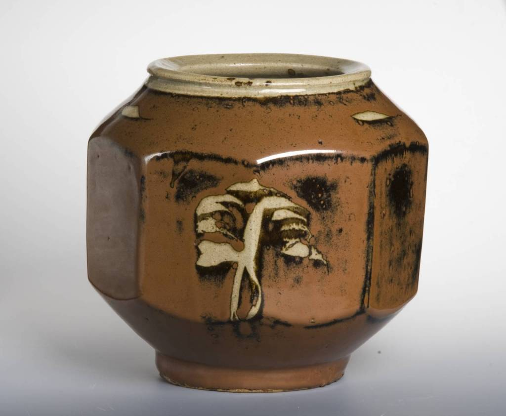 Nine-sided Jar 1950-9 by Shoji Hamada 1884-1978
