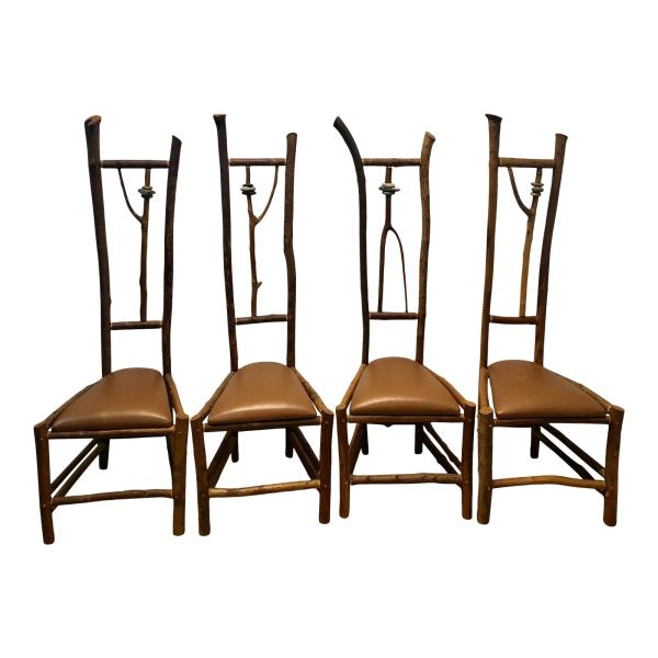 Handcrafted chair set designed by Daniel Mack