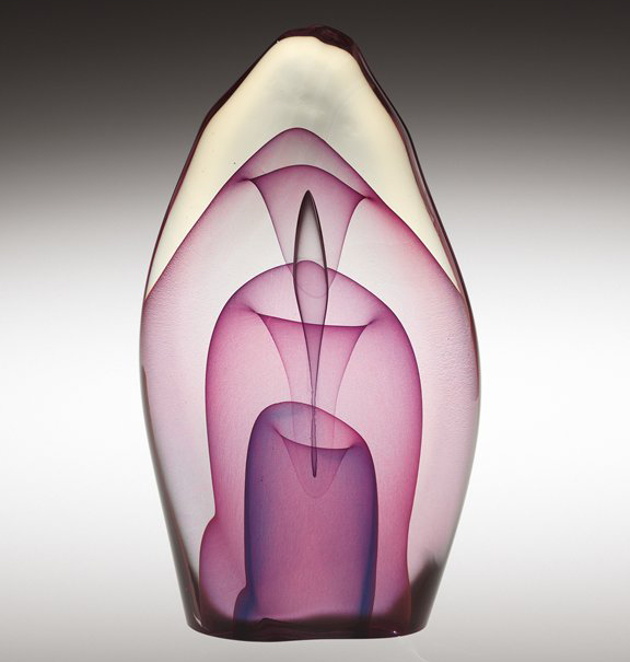 Emergence, Dominick Labino, 1980. Collection of The Corning Museum of Glass (2007.4.165). Gift of the Ben W. Heineman Sr. Family.