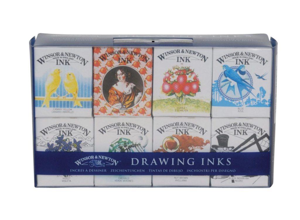 Windsor & Newtown Drawing Ink packaging by Michael Peters OBE