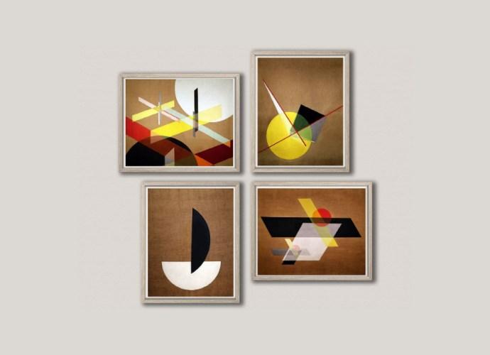 Abstract Geometric Bauhaus Prints Bauhaus Wall Art