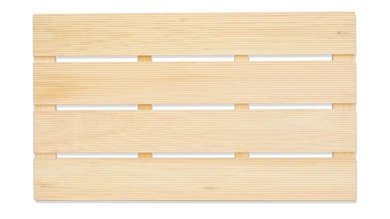 Hinoki Wood Mat Close-up