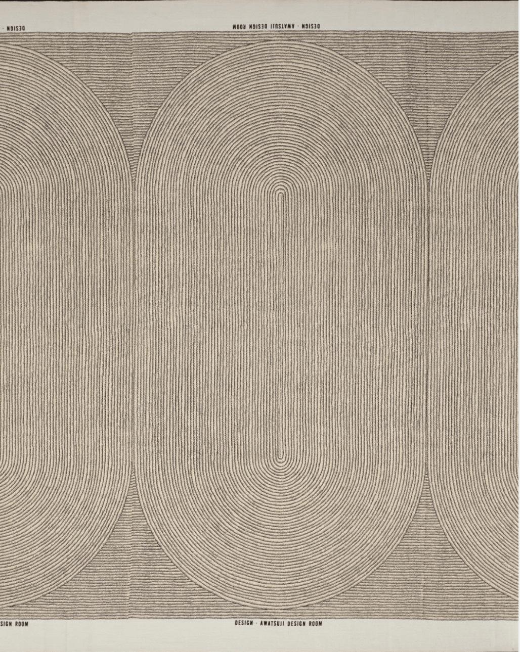 """Printed Textile: """"Sand Garden"""" 967 Designed by Hiroshi Awatsuji, Japanese, 1929 - 1995"""