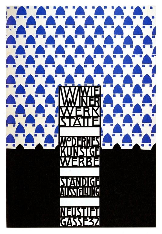 Wiener Werkstätte Exhibition poster by Josef Hoffmann