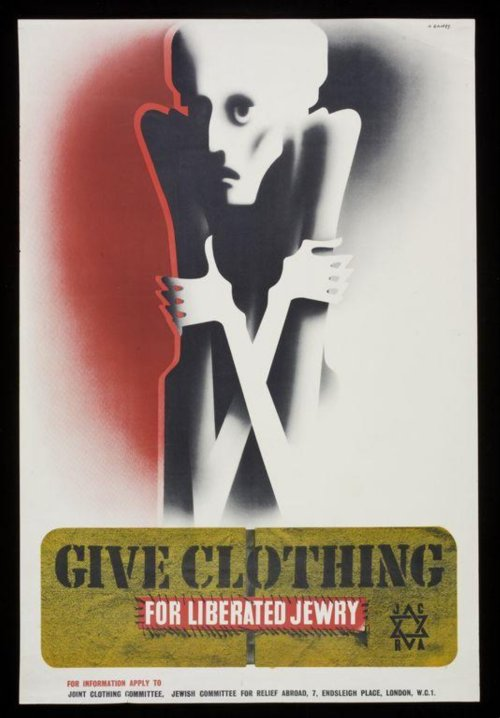 Give Clothing for Liberated Jewry Poster designed by Abram Games