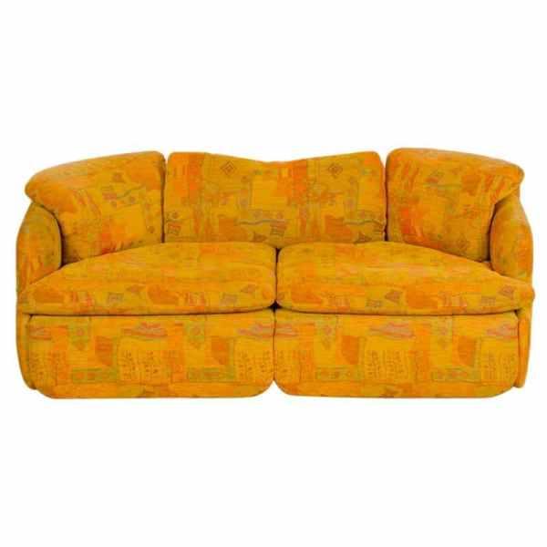 """Saporiti, """"Confidential"""" Two Seat Sofa, 1970s designed by Alberto Rosselli."""