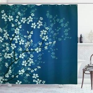 Spring Season Sakura Bloom Design Shower Curtain