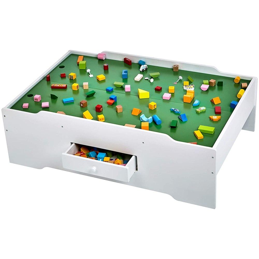 Amazon Basics Wooden Multi-Activity Play Table, White