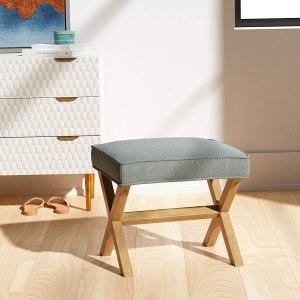 Amazon Brand – Rivet Mid-Century Modern X Stool Ottoman Chair
