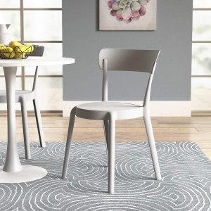 Armless Bistro Dining Chair-Set of 2, Premium Plastic