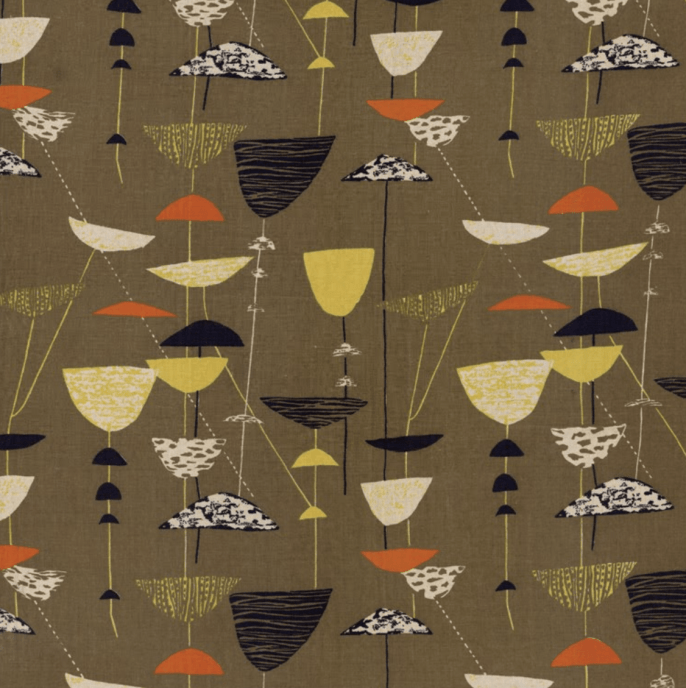 Calyx fabric designed by Lucienne Day, 1951