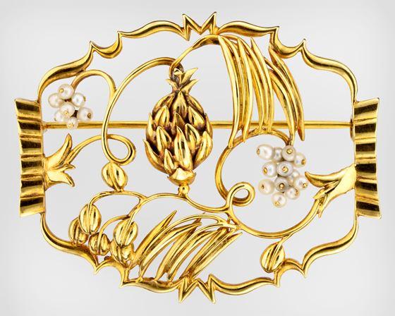 Brooch designed by Dagobert Peche