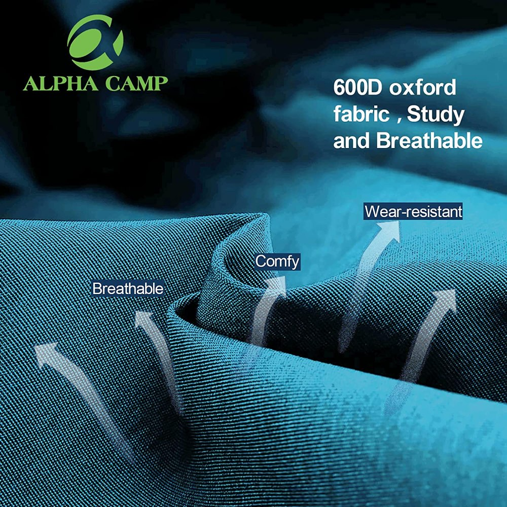 ALPHA CAMP Folding Beach Chairs with Cooler Bag 3 Position