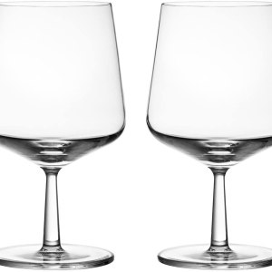 Iittala Essence Beer Glass Set of Two (16oz) ,Clear