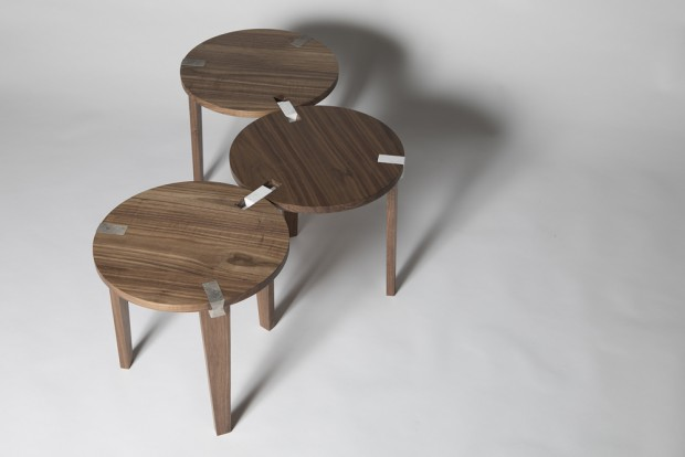 Modular coffee table system by Claisse Architects