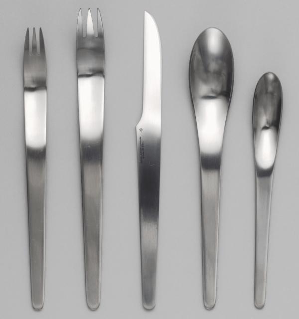 Flatware cutlery, 1957 designed by Arne Jacobsen