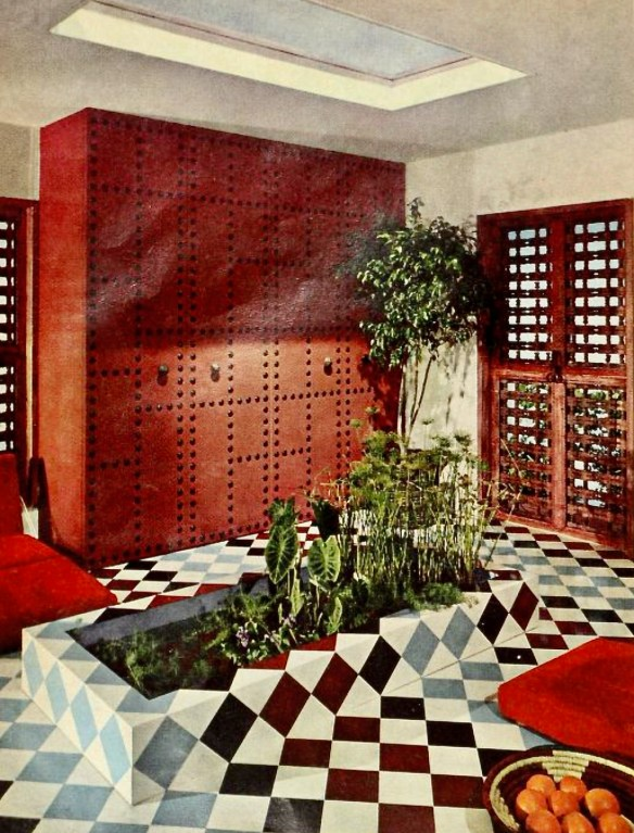 Moorish complexity interior design from 1966