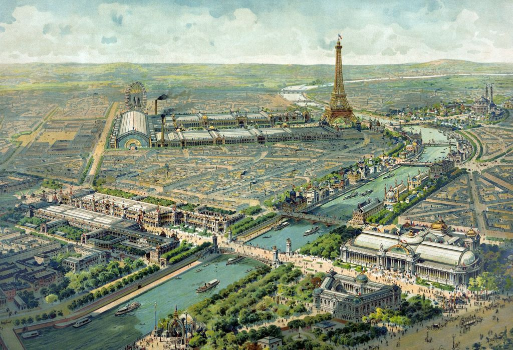 Panorama of 'Exposition Universelle' Paris 1900