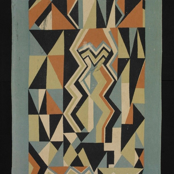 """Coverlet """"Electric pattern"""" by Ruth Reeves"""