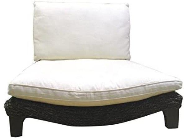 Seagrass Meditation Yoga Chair - Expresso with Cream Cushion