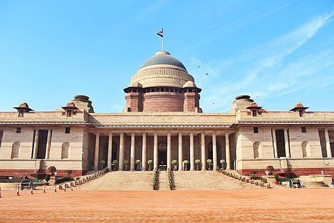 Rashtrapati Bhavan designed by Edwin Lutyens