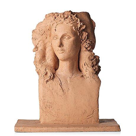 a terracotta sculpture, Sweden, provenance Hertha Hillfon