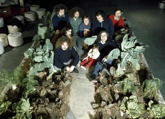 "For S-SPACE, THE Mondial Festival N. 1, ""VITA, MORTE E MIRACOLI DELL'ARCHITETTURA,"" IN 1971, Featured a vegetable garden"