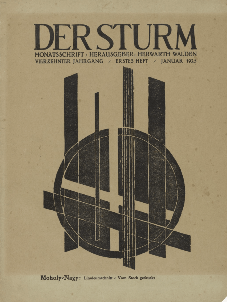 Untitled (Composition) (ohne Titel (Komposition)) from the periodical Der Sturm, vol. 13, no. 1, 1923 by László Moholy-Nagy (MoMA)