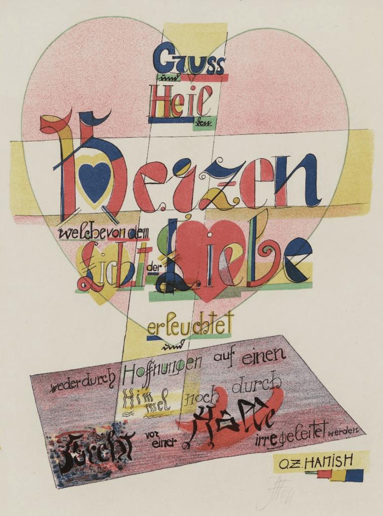 Saying (Spruch) by Johannes Itten