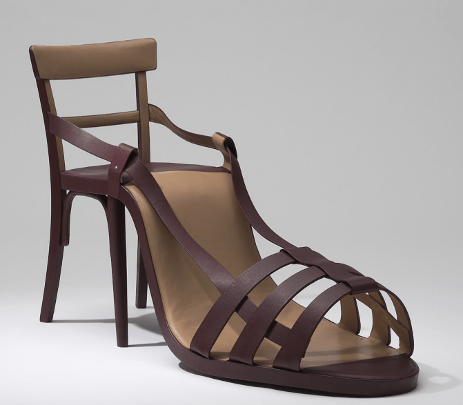 Shoe Chair by Birgit Jürgenssen
