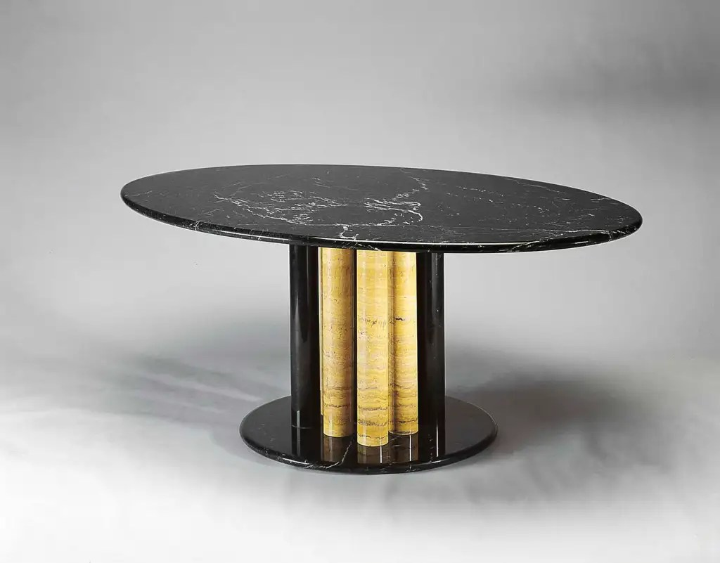 Treperte Marble Table designed by Segio Asti