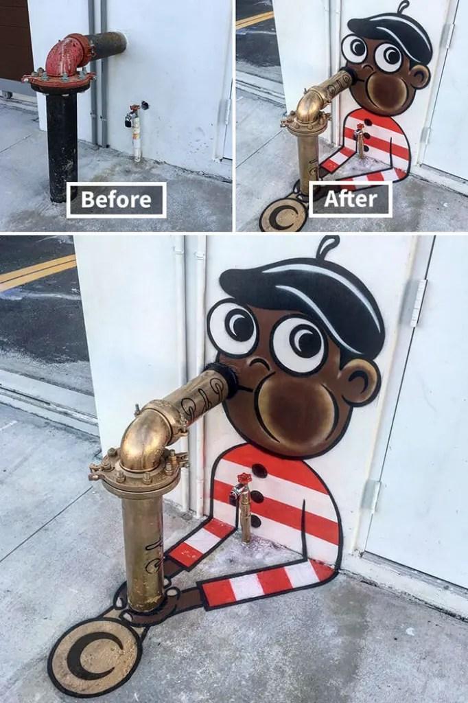 Tom Bob Witty Street Art- Saxophone Player