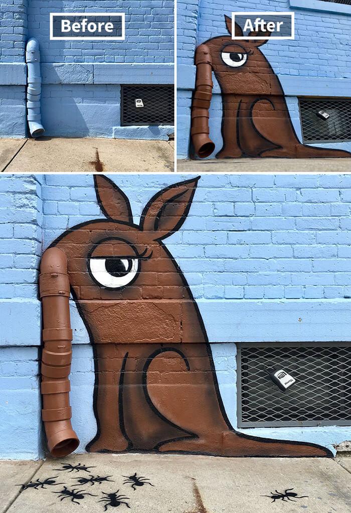Tom Bob Witty Street Art- Anteater