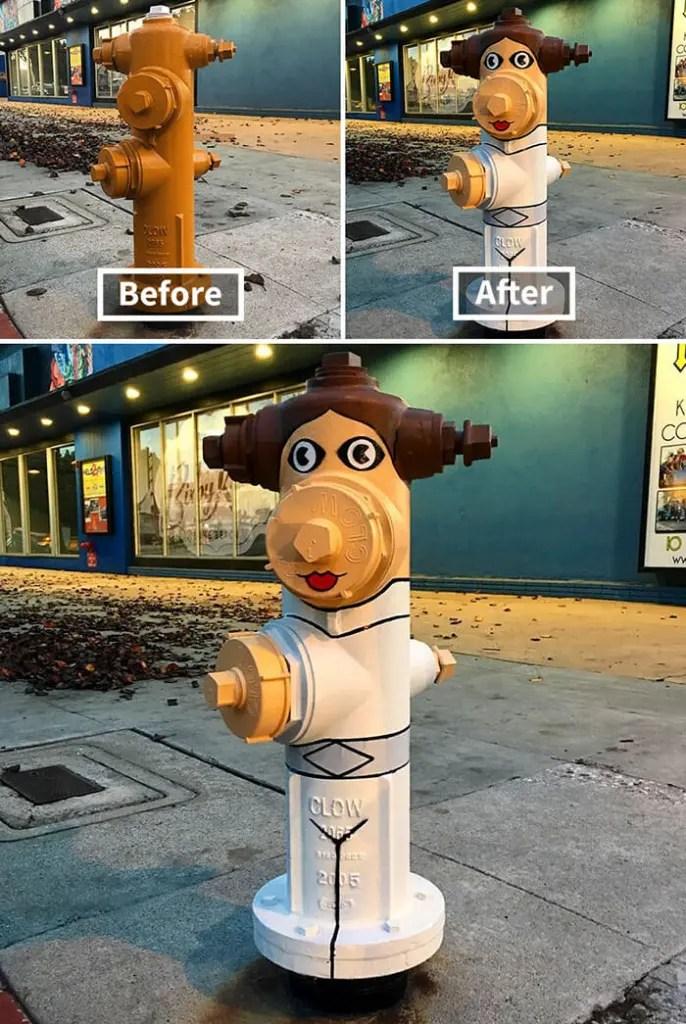 Tom Bob Witty Street Art- Fire Hydrant Woman