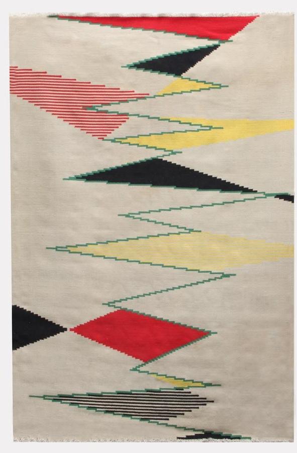 Big Czech modernist carpet by Antonin Kybal, 1950s