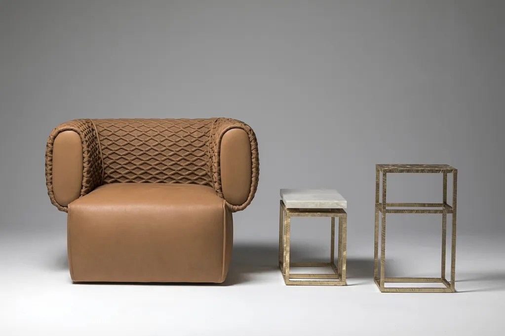 Hug armchair for Hessentia designed by Luca Erba