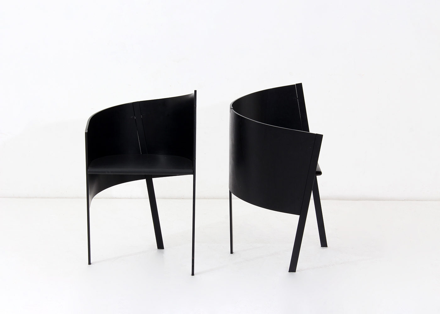 Pair of Merry Go Round amrchairs by Paolo Pallucco and Mireille Rivier