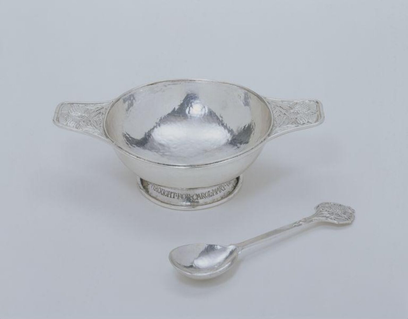 Christening spoon by Omar Ramsden