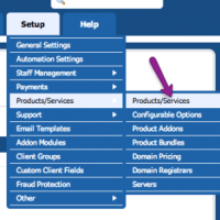domain options in whmcs