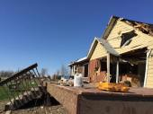 One of many homes scheduled to be torn down.