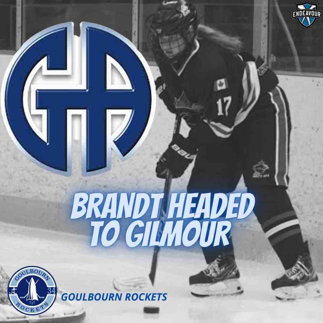 Alex Brandt head to Gilmour Academy to play hockey