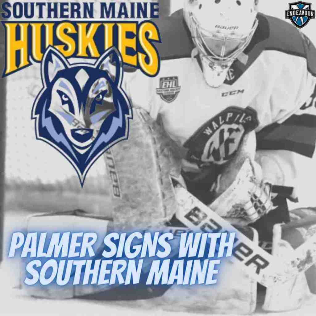 Palmer Sign with Southern Maine Huskies