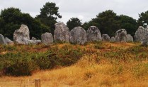 Standing stones at Carnac (megaliths).