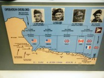 Surrender museum maps, this showing the Normandy beaches landings.